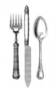 Utensils from TheGraphicsFairy.blogspot.com