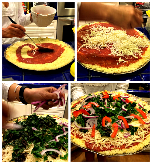 gluten free rice crust pizza assembly (1)