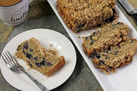 Sugar Free Blueberry Coffee Cake keri bucci